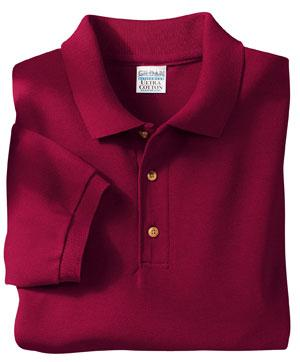100% Ultra Cotton� Pique Placket
