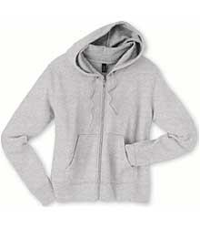 Silver Ladies French Terry Full-Zip Jacket