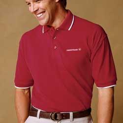 Men's Short Sleeve Pique Polo With Tipping