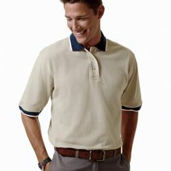 Men's Cotton Pique Colorblock Polo