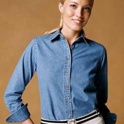 Ladies' Long-Sleeve Denim Shirt