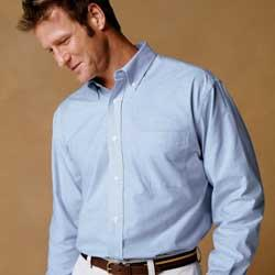 Men's Long-Sleeve Oxford with Stain Release