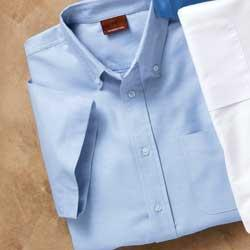 Men's Short Sleeve Oxford With Stain Release