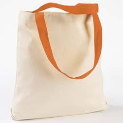Canvas Tote with Contrasting Handles