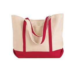 Canvas Tote with Contrasting Trim