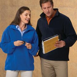 Unisex 1/4-Zip Fleece Pullover