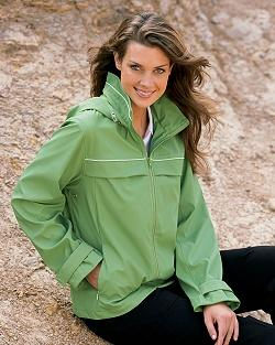 Ladies' Lightweight Polyurethane Jacket with Hidden Hood