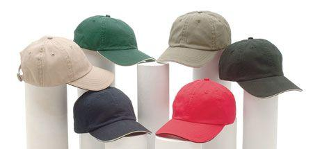 6-Panel Polo Washed Twill Sandwich Cap