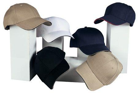6-Panel Low Profile Twill Cap with Sandwich Bill