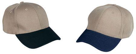 6-Panel Two Toned Low Profile Twill Cap