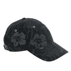 Floral Print Cotton Nylon 6 Panel Baseball