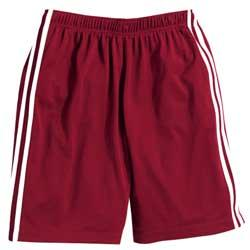 Men's Mesh Shorts with White Side Stripe