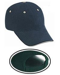Superior Garment Washed Cotton Twill Sandwich Visor Low Profile Pro Style Caps