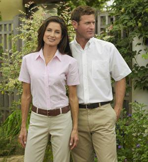 Ladies Oxford Short Sleeve