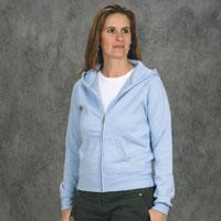 Ladies' Fitted Raglan Full Zip Sweatshirt