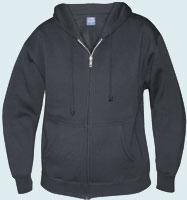 Fitted Full Zip Hooded Sweatshirt