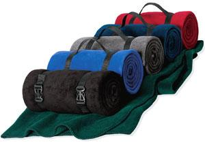Fleece Value Blanket with Strap
