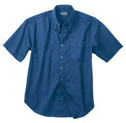 Men's Corporate Casual 100% Cotton Short-Sleeve Twill
