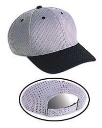 Pro Mesh Polyester Grey Undervisor Six Panel Low Profile Pro Style Caps