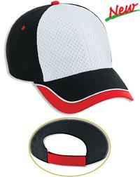 Piping Design Brushed Cotton Canvas Polyester Pro Mesh Front Low Profile Pro Style Caps
