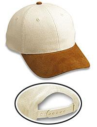Natural Canvas Suede Visor Low Profile Pro Style Caps