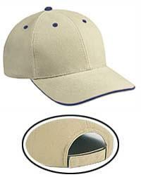 Brushed Bull Denim Sandwich Visor Low Profile Pro Style Caps