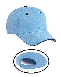 DISCONTINUED: Microfiber Polyester Suede Sandwich Visor Low Profile Pro Style Caps