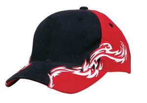 Racing Cap with Red and White Flames