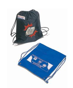 Q-Tees Polyester Drawstring Bag