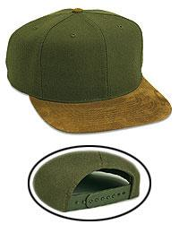 Wool Blend Suede Visor Pro Style Caps