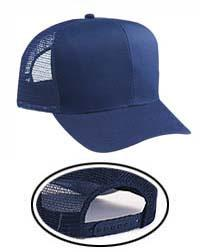 Cotton Blend Twill 6 Panel Pro Style Mesh Back Trucker Hat