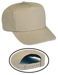 5 Panel Pro Cotton Blend Slight Curve Visor Cap