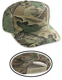 Camouflage Cotton Twill Low Crown Golf Style Mesh Back Caps