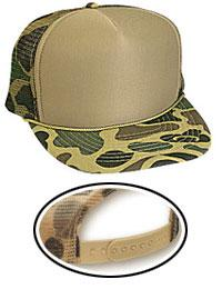 Camouflage Polyester Foam Front Golf Style Mesh Back Caps