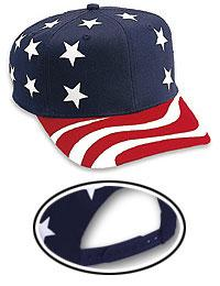 Cotton Twill United States Flag Pattern Pro Style Cap