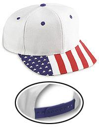 Cotton Twill United States Flag Visor Pro Style Cap