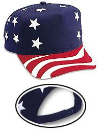 Cotton Twill United States Flag Pattern Low Crown Golf Style Cap