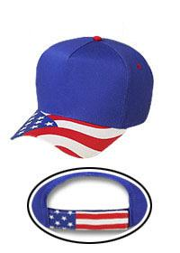 United States Flag Visor Cotton Twill (Solid Colors)