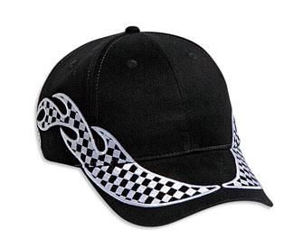 Racing Flame Pattern Brushed Cotton Twill Low Profile Pro Style Cap