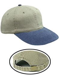 Washed Pigment Dyed Cotton Twill Low Profile Style Caps (Youth)
