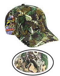 Camouflage Cotton Twill Otto Flex Low Profile Pro Style Caps (LXL)