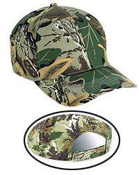 Camouflage Cotton Twill Low Profile Baseball Caps
