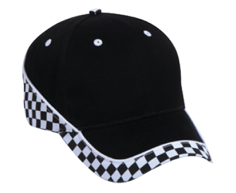 Racing Pattern Brushed Cotton Twill Two Tone Color Low Profile Pro Style Caps