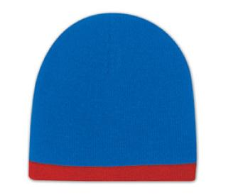 Acrylic Knit 8-in. Beanie with 7/8-in. Trim