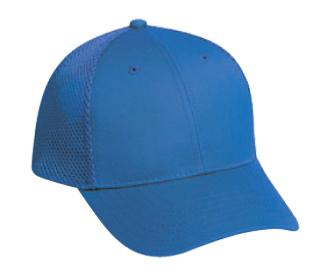 Comfy Fit 6 Panel Low Profile Cotton Twill With Polyester Air Mesh Back Baseball Cap