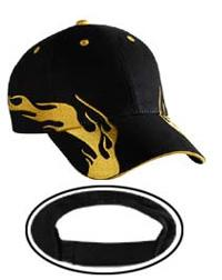 Flame Pattern Brushed Cotton Twill Sandwich Visor Low Profile Pro Style Caps