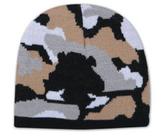 Camouflage Design Acrylic Knit 8 Beanie