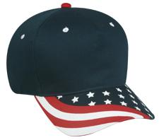 5 Panel Cotton Twill USA Cap