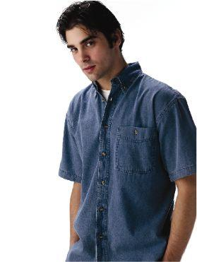 Short Sleeve 6.5 oz. Denim Shirt