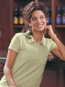 Ladies' Organic Cotton Jersey Golf Shirt